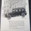 1924 Buick 7 Passenger Sedan car ad