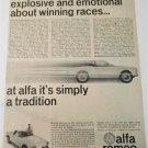 1965 Alfa Romeo Guillia Spider car ad