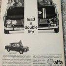 1966 Alfa Romeo Guillia Super 4 dr sedan car ad