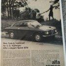 1967 Alfa Romeo Sprint GTV car ad