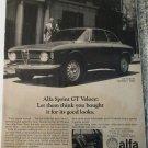 1968 Alfa Romeo Sprint GT Veloce car ad