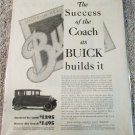 1925 Buick Coach car ad