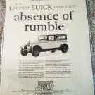 1926 Buick 4 dr sedan Absence Of Rumble car ad