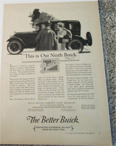 1926 Buick Sedan This Is Our Ninth Buick car ad