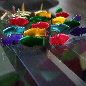 Christmas Bulb Brads - Metallic Colors