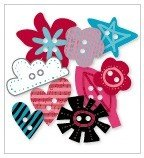 Roxie Chipboard Buttons - Love Elsie - KI Memories