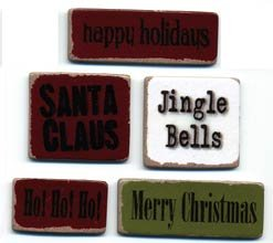 Chipboard Words - Christmas - Lil Davis
