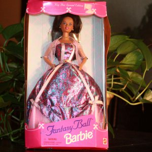 Rare Fantasy Ball Barbie - Dark-skinned Brunette