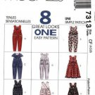 McCall's Pattern 7313 - Jumpsuit, Jumper - Girls 4,5,6