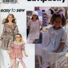 Simplicity 3843 - Girls Dress or Tunic and Leggings - Size 3,4,5,6