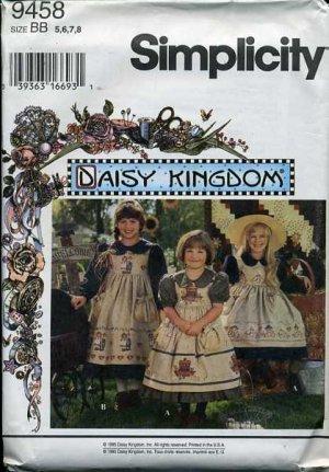Simplicity Pattern 9458 - Daisy Kingdom Dress & Pinafore - Size 5-8