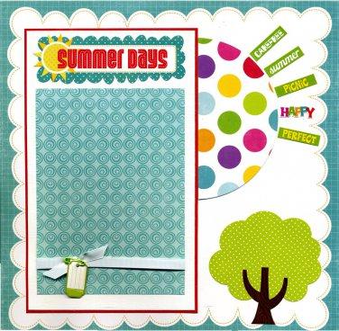 Summer Days - 12x12 Premade Scrapbook Page