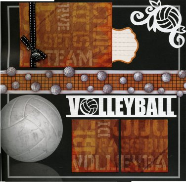 12x12 Premade Volleyball Scrapbook Page