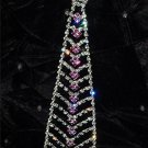 Hot Pink Crystal Necktie