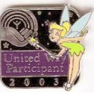 Disney Pin: United Way Participant 2003 - Tinker Bell