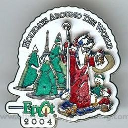 Disney pins: 2004 Epcot Holiday's Around the World - Santa Goofy