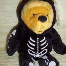Disney Beanies: Pooh Halloween Skeleton - 1999