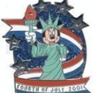 Disney Pins: Fourth of July Minnie 2001