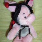 Disney Beanie: Ladybug Piglet 1999