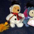 Disney Snowman Pooh and Sugar Plum Fairy Eeyore