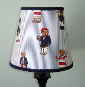 Custom Teddy Bear on Ralph Lauren Custom Teddy Bear Stripe Lampshade
