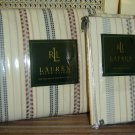 RALPH LAUREN VILLANDRY STRIPE QUEEN DUVET 2 EURO SHAMS