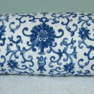"ALPH LAUREN CUSTOM 14""X6"" PORCELAIN TOILE BOLSTER PILLOW"