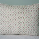 LAURA ASHLEY CUSTOM 12X16 KATE PINK FLORAL ACCENT PILLOW