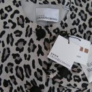 Womens Leopard print skirt suit Dana Buchman Sz 12 NWT silk Gray Animal print 2 piece