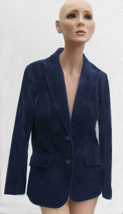 Vintage Blazer Blue Sz 9/10 Jacket Marianne Cotton