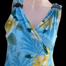 Tommy Bahama Dress Womens 8 10 NWT Hawaiian Lush Limbo Silk Bali Blue