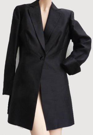 Womens black Silk Jacket Sz 6 Dana Buchman Classic Dressy Silk SB