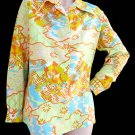 Lady  Arrow Top blouse Womens Vintage Long sleeves M
