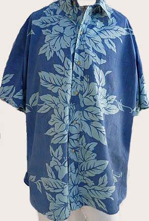 Phil Edwards Shirt XXL Aloha Hawaiian Reyn Spooner SS shirt Blue Blue