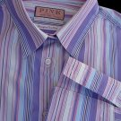 Womens SZ 16 Top Blouse Sz 16 Thomas Pink Shirt Striped French cuffs