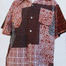 Vintage hawaiin Mens shirts 2 Spectrum Tiki 70's Brown white black XL Collection Combed cotton