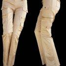 Cache jeans gold Pants Sz 2 Stretch Cotton Blend Pockets Womens Flare leg