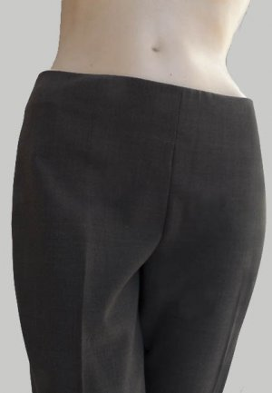 Theory pants Womens Cropped Brown Low rise Hipster SZ 4 USA