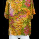 Vintage Hawaiian Chemise Mens shirt SS Hawaii men's Bright floral M – L