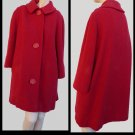 Womens Vintage Coat Cover Large Deep Red M Lord & Taylor Swing