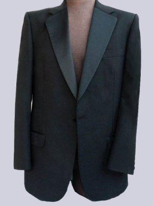 Men's Tuxedo jacket Formal Prom Coat Burberrys 42 Single Breasted Black Burberry