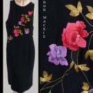 Womens dress Sz 16 Bob Mackie Embroidered floral  New
