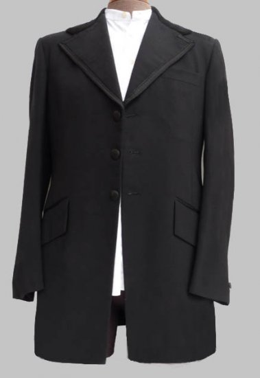 Vtg Mens Tuxedo Lord West Frock 1928 Authentic Prince Edward 38-39 Long Braid lapels Black