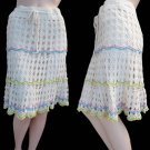 Womens crochet skirt cotton SM Nanette Lepore Skirt S Cotton CKnee length Cruise Drawstring waist