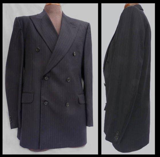 Fendi blazer Suit Vintage  jacket Mens Black DB 42 Pin stripe Italy