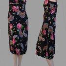 Nanette Lepore Dress z 8 Spaghetti straps Knee length Roses Floral Paisley