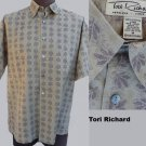 Tori Richard Shirt M Short Sleeves Button front  Cotton lawn
