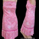 Lilly Pulitzer Dress Iron Maiden Butterflies Roses Pink Sz 6 Womens Sleeveless