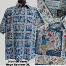 Hawaiian shirt XL Golf theme Reyn Spooner Dietrich Varez
