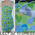 Lilly Pulitzer Sz 10 Dress Spaghetti tie straps parrots Girls or womens
